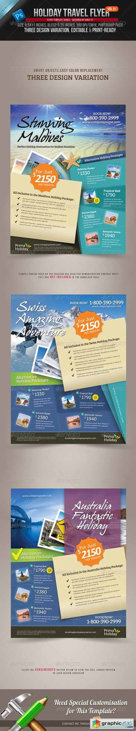 Holiday Travel Flyer Vol.01