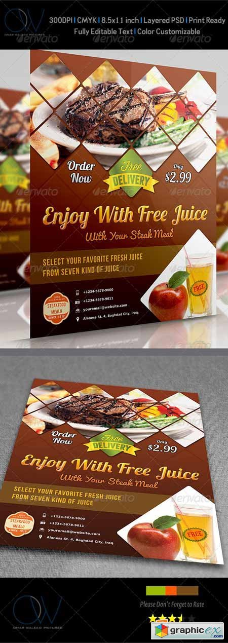 Steak Restaurant Flyers