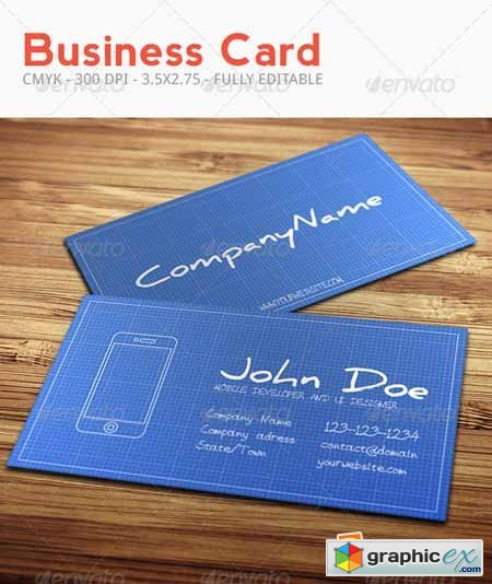 Blueprint Business Card 3506775