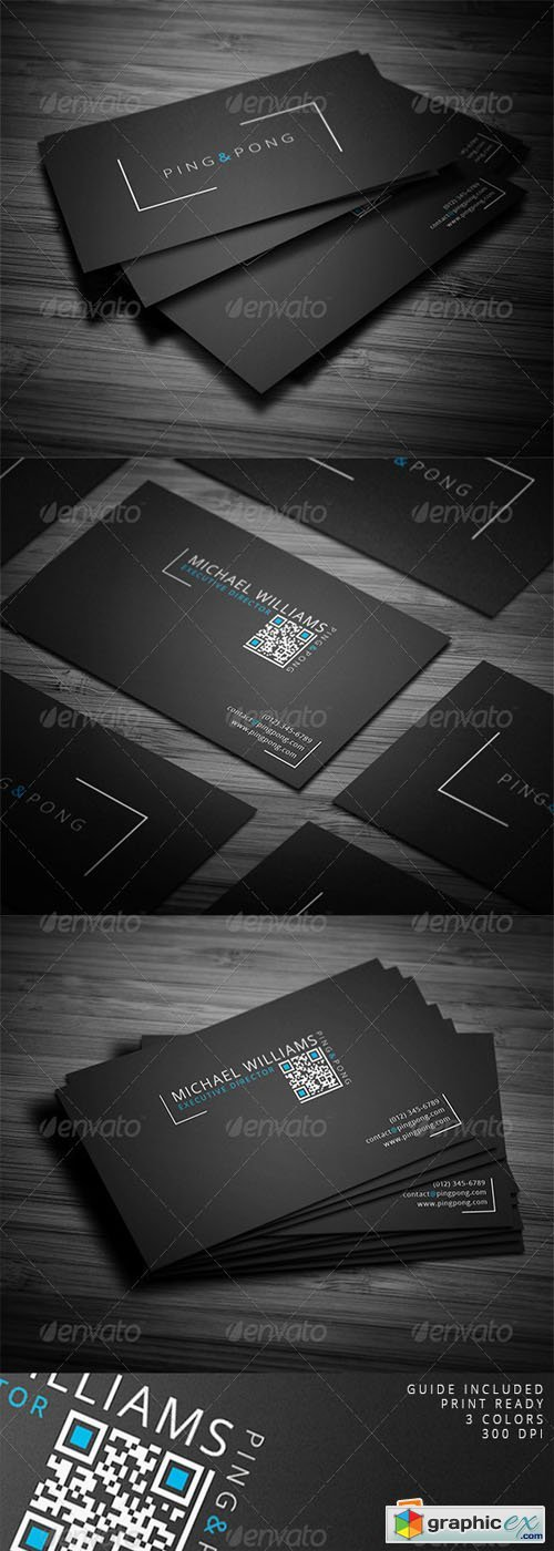 Fonts & Shapes Business Card