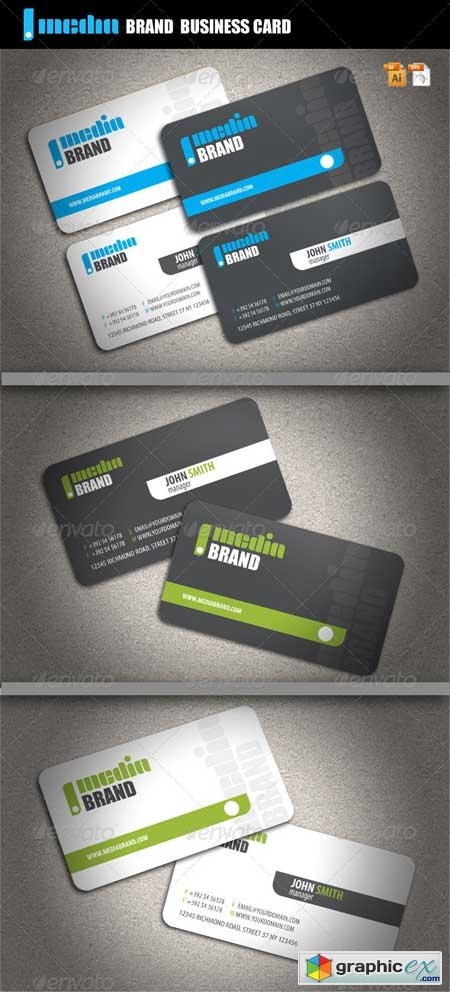 Media Brand Business Card