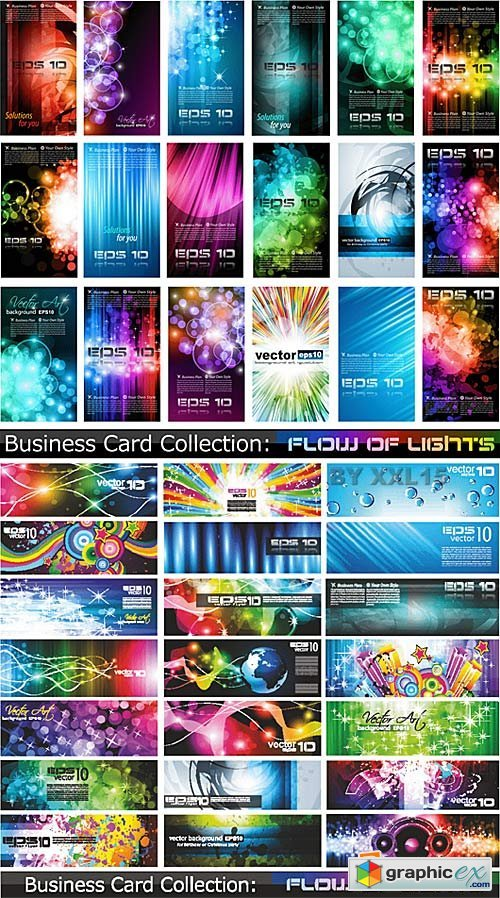 Vector Colorful abstract cards