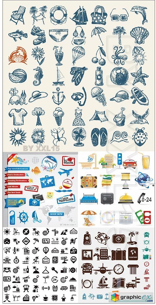 Vector Travel and tourism icons
