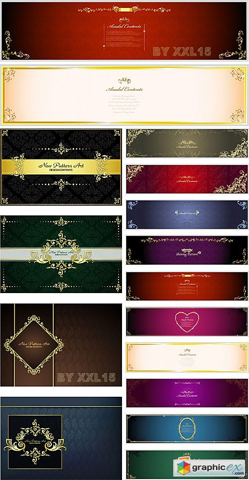 Vector Luxury backgrounds and banners