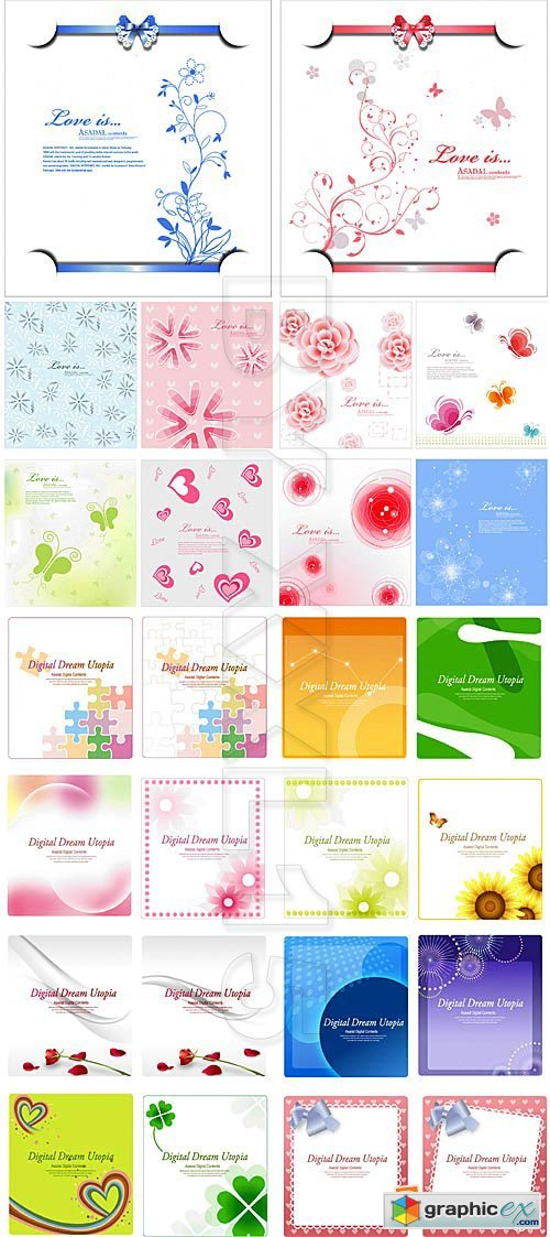Vector Different greeting cards