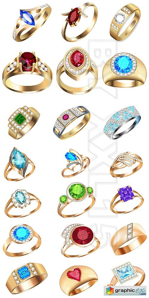 Vector Rings with precious stones