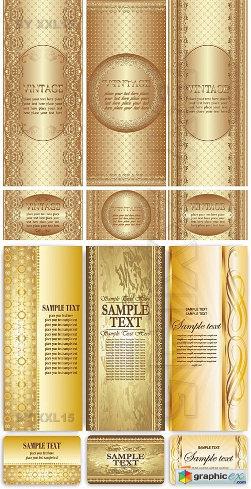 Vector Golden vintage templates