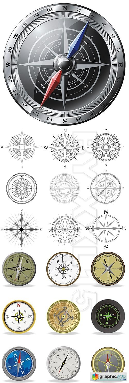 Vector Compass vector set