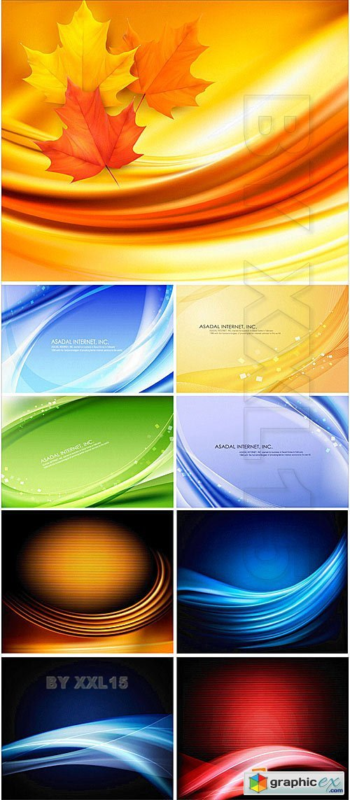 Vector Colorful wavy backgrounds