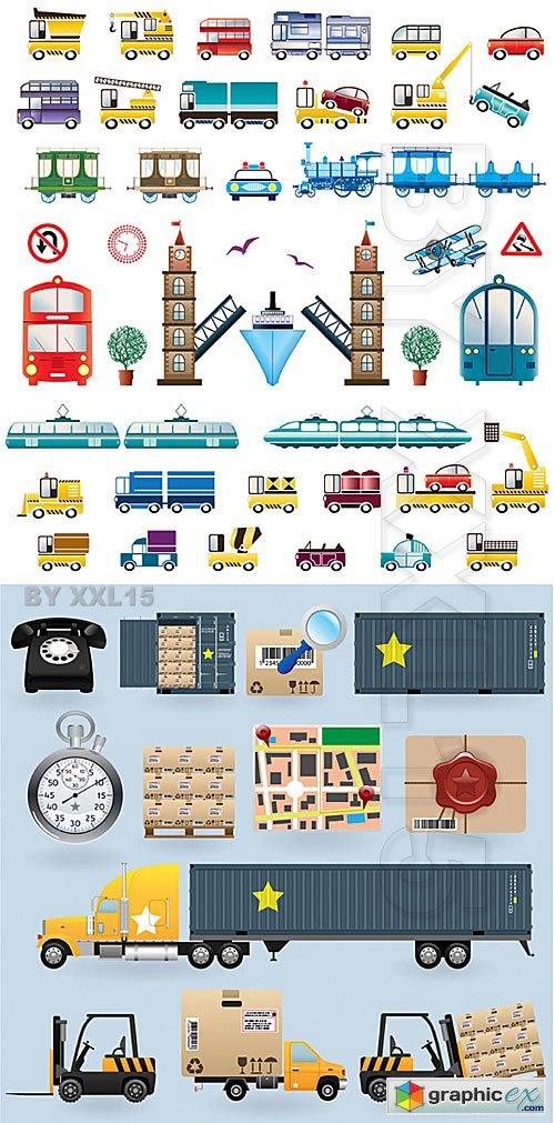 Vector Transport and delivery icons
