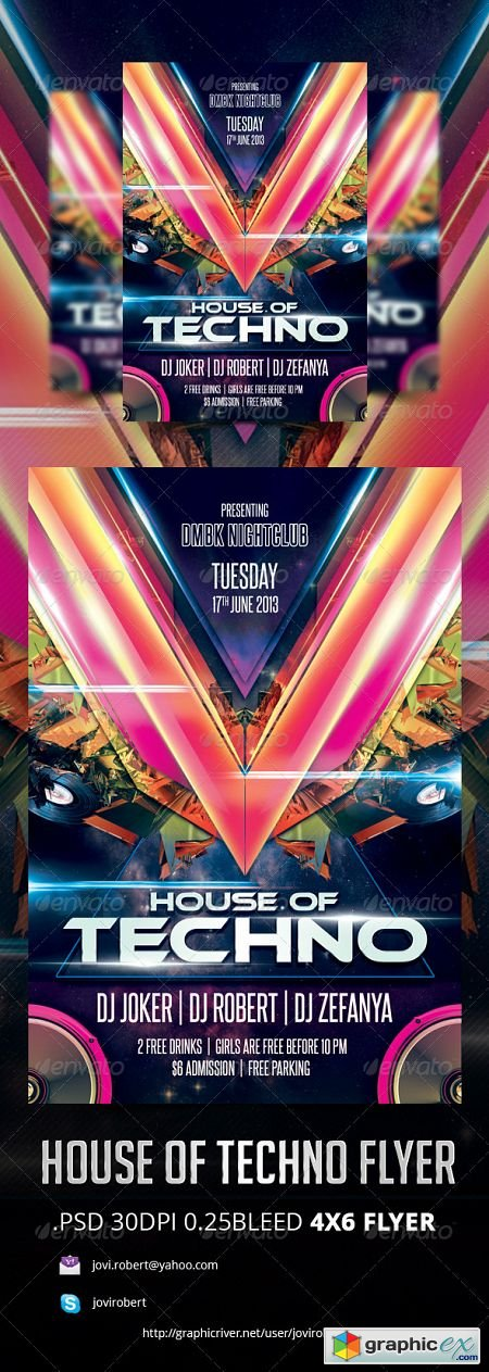 House Of Techno Flyer 3783527