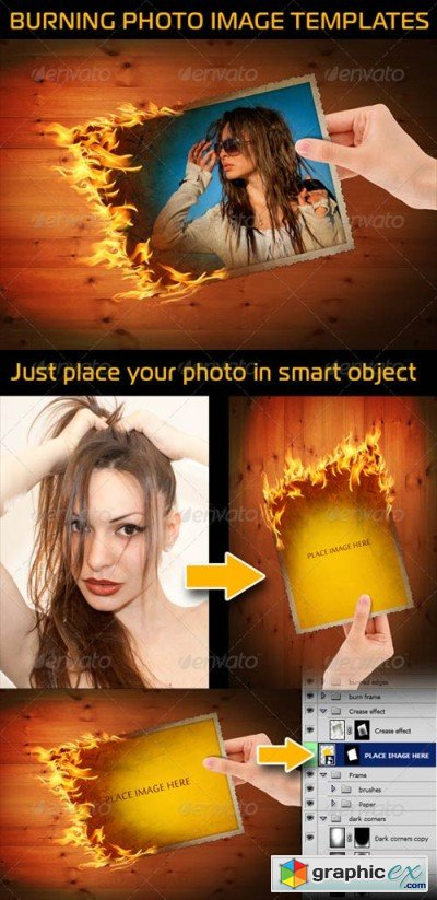 Burning Photo Image In Hands 3247785