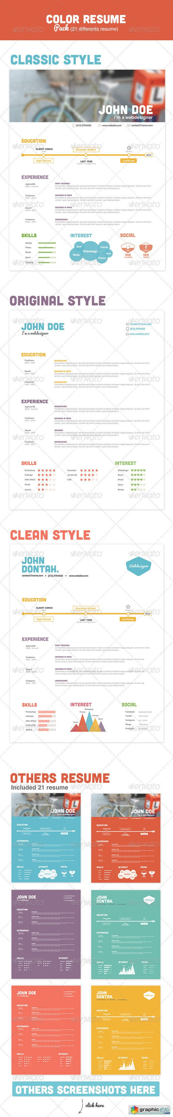 Color Resume Pack 2574197