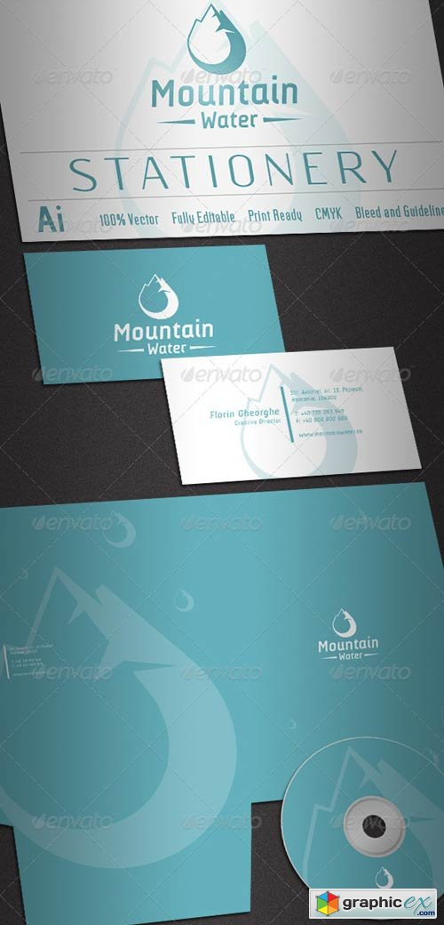 Mountain Water Stationery 2589419
