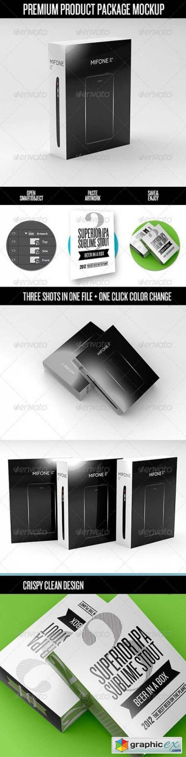 Premium Product Box / Package Mock-Up 3670821