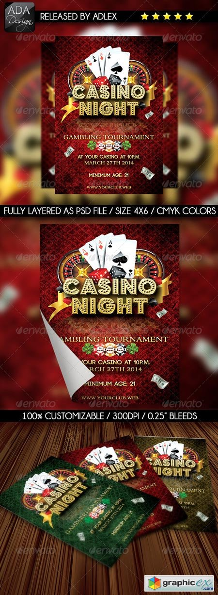 Casino Night Images Casino Night Flyer 6532023