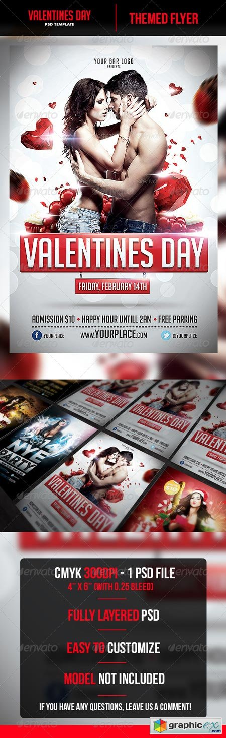 Valentines Day Flyer Template 6532900