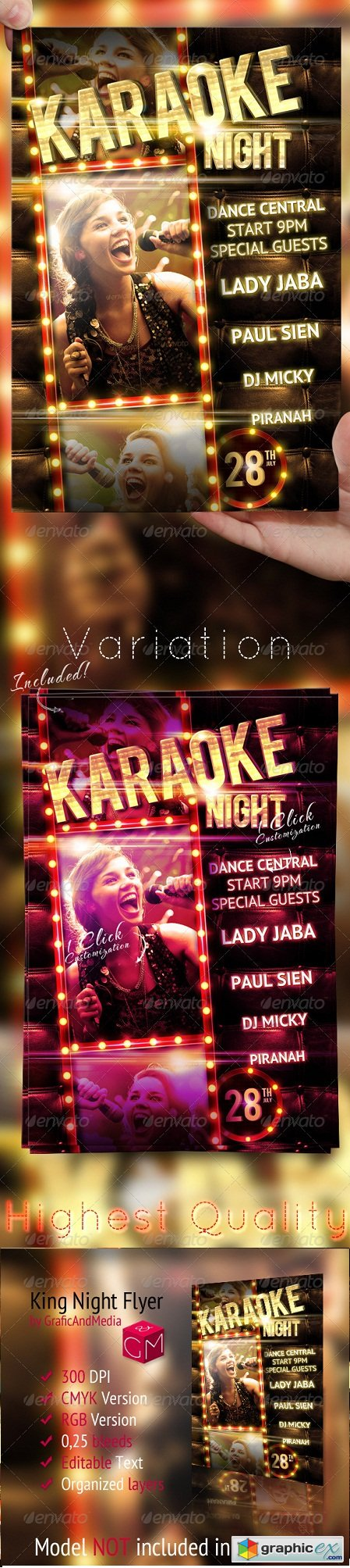 Karaoke Night Party Flyer Template 2592676