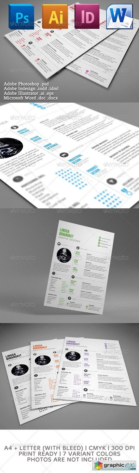 Sewon Clean Resume Template 3647037