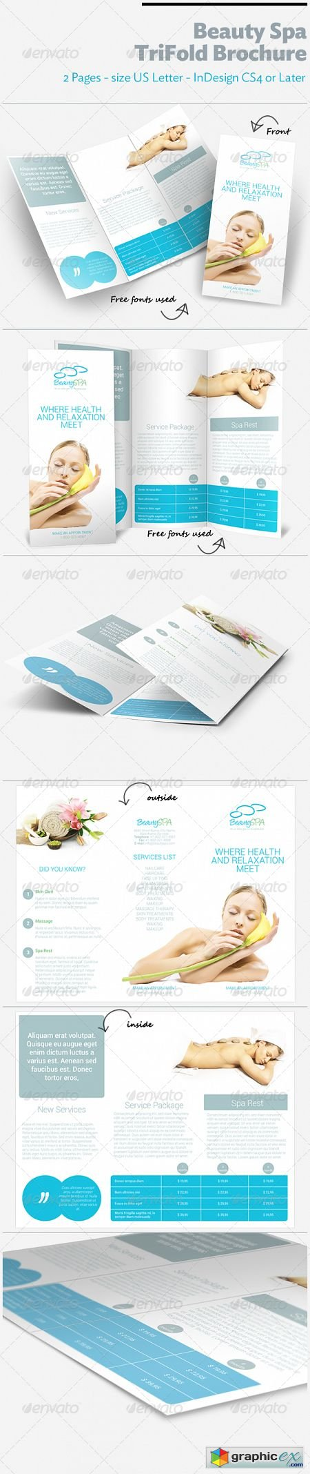 Beauty Spa TriFold Brochure 3651987
