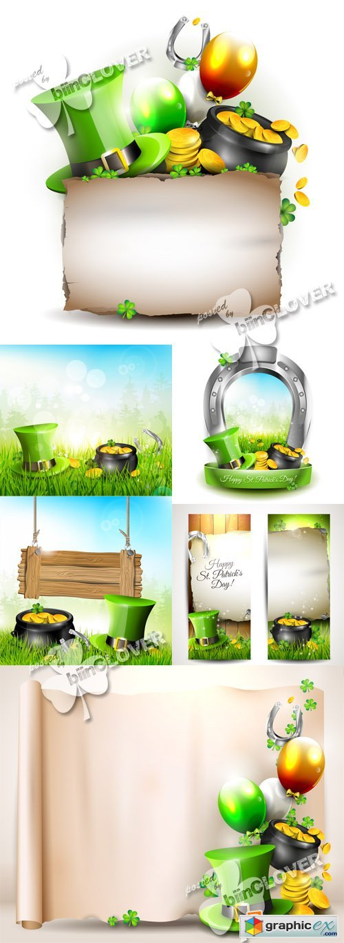Vector Saint Patrick's Day backgrounds 0567