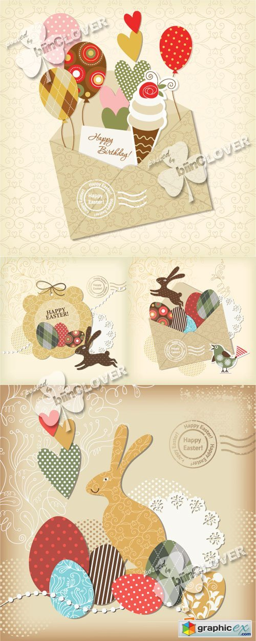 Vector Easter cards 0567