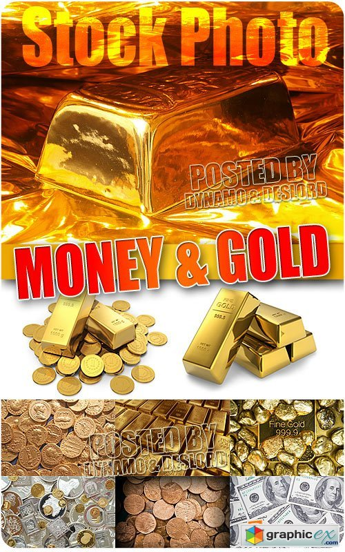 Gold and money - UHQ Stock Photo