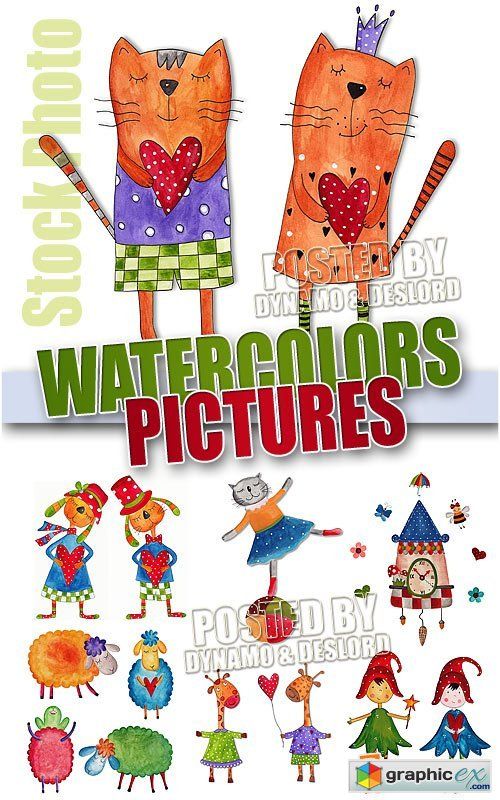 Vector Watercolors pictures - UHQ Stock Photo