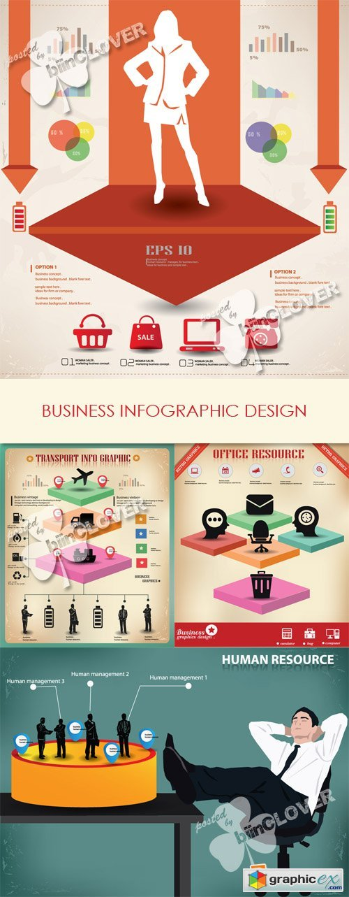 Vector Business infographic design 0568