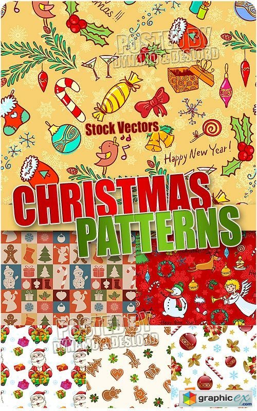 Xmas Patterns 2 - Stock Vectors