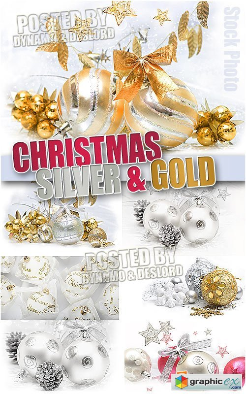 Christmas Silver and Gold - UHQ Stock Photo