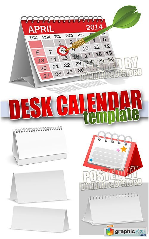 Vector Desk calendar template - Stock Vectors