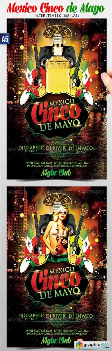 Cinco de Mayo Flyer Poster Template 4435134