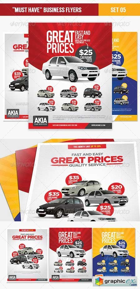 Must Have Business Flyers - Set 05 Car Services 4434247