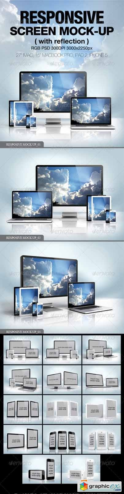 Responsive screen Mock-up 4045936