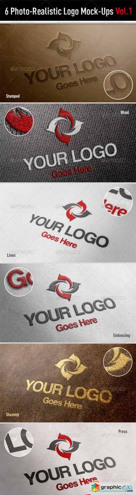 Photo-Realistic Logo Mock-Ups Vol.1 3243494