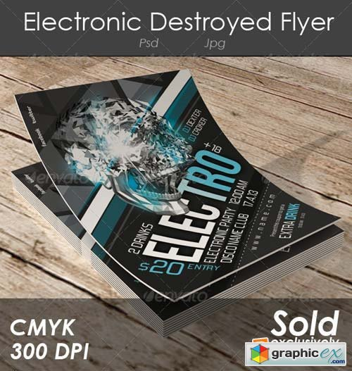 Electronic Destroyed Flyer Template