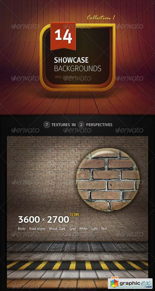 3D Showcase Backgrounds Template