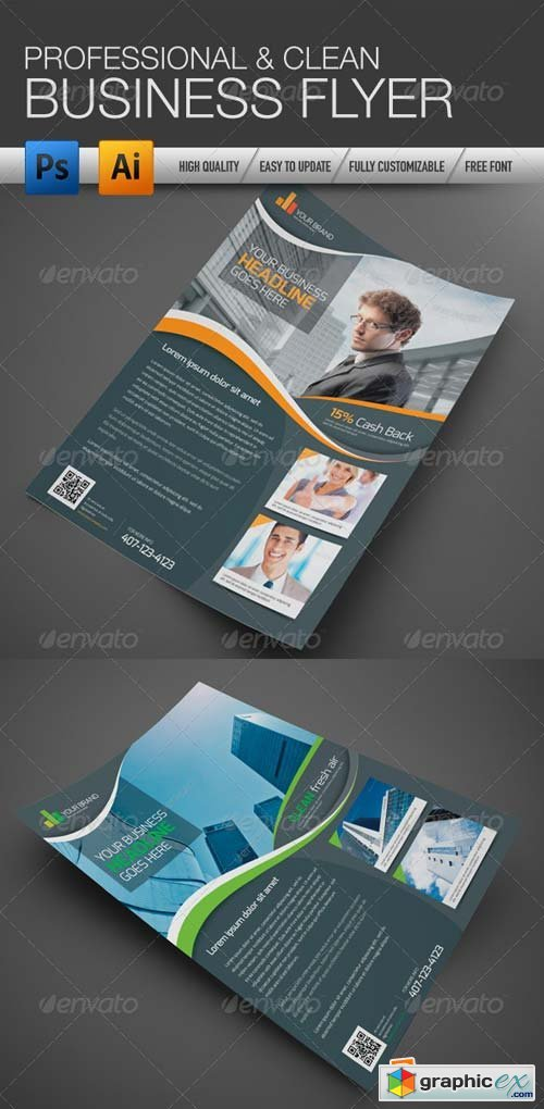 Professional and Clean Business Flyer Template