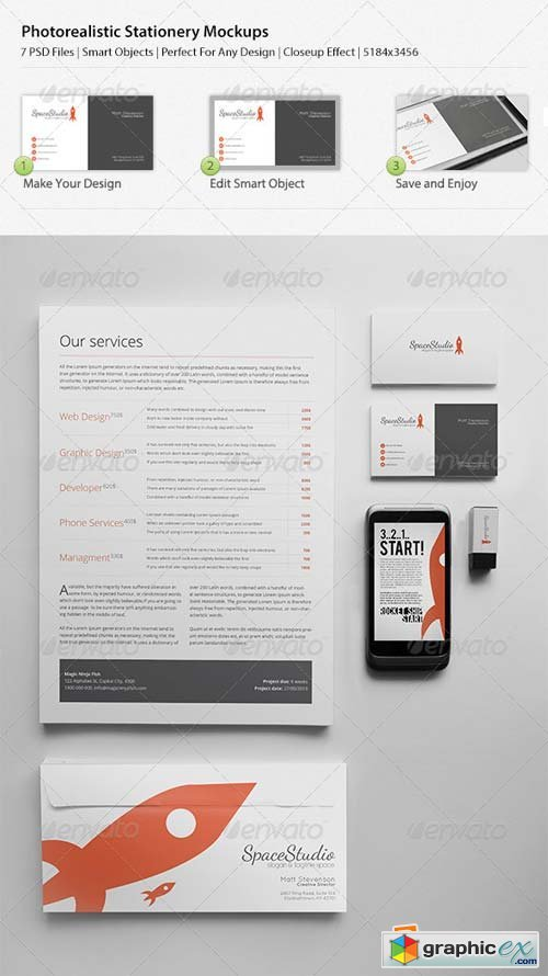 Photo Realistic Stationary/Brand Identity Mockups Template