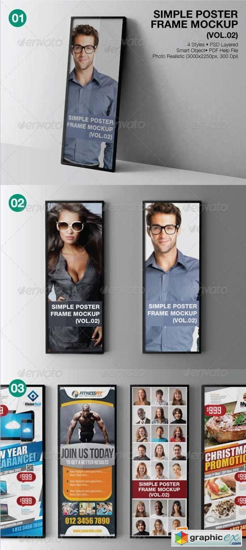 Simple Poster Frame Mockup (Vol.02) Template