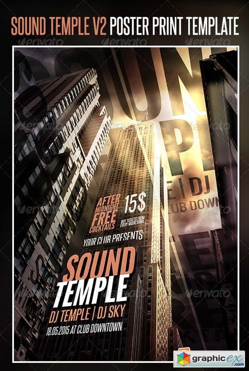 Sound Temple V2 Poster Print