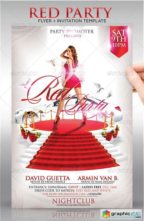Red Party Flyer