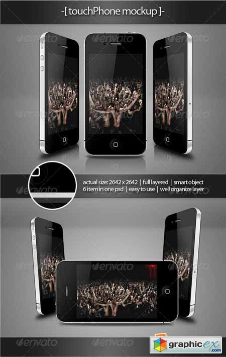 Touch Phone Mockup 407400