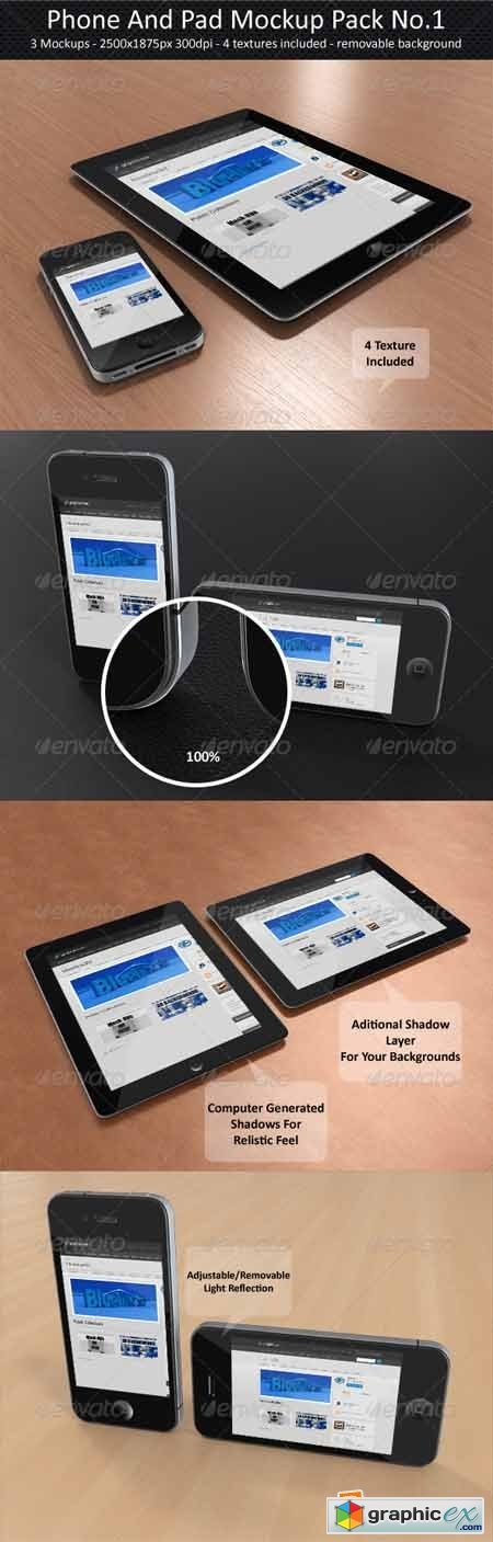 Phone And Pad Mock-Up Pack No.1 2349397
