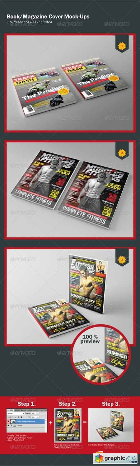 Book/Magazine Cover Mock-Ups  2414268