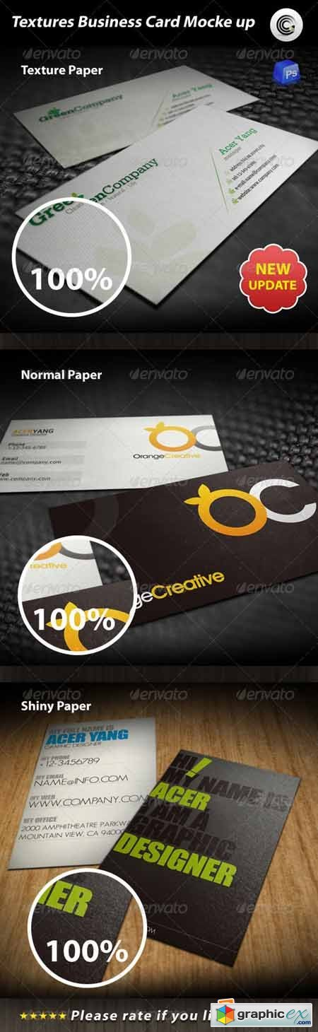 Textures Business Card Mock-up 595482