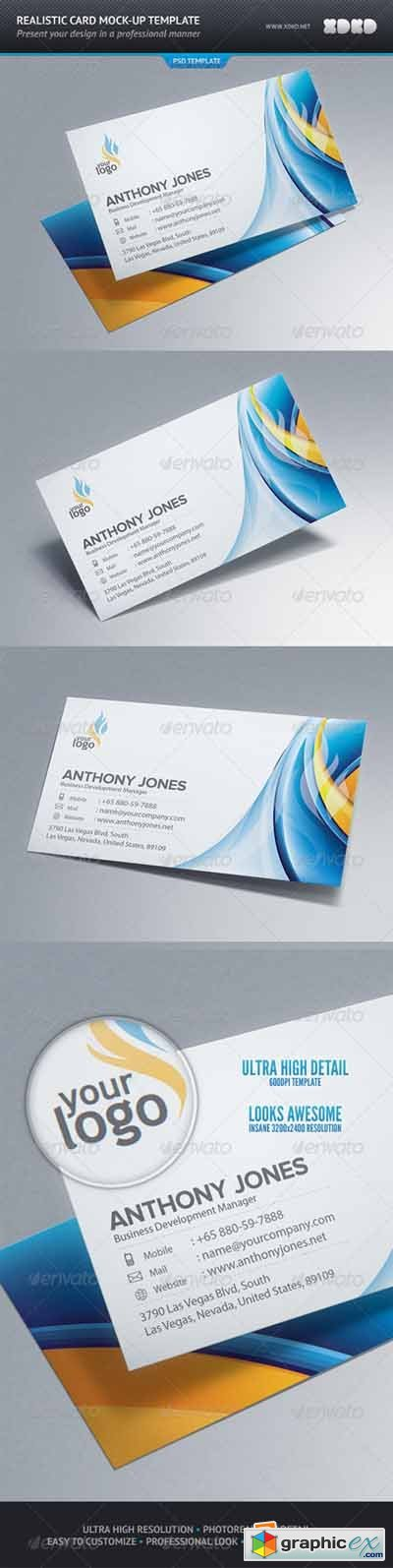 Photo-Realistic Business Card Mock-Up 549753