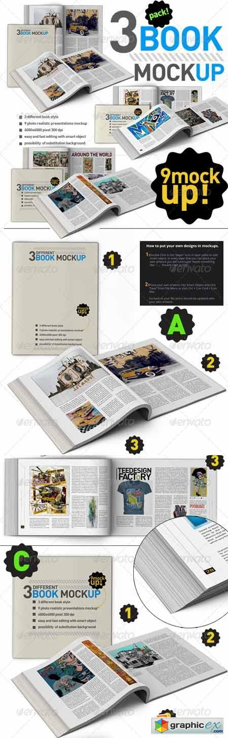 Book Mock Up Pack 3380644