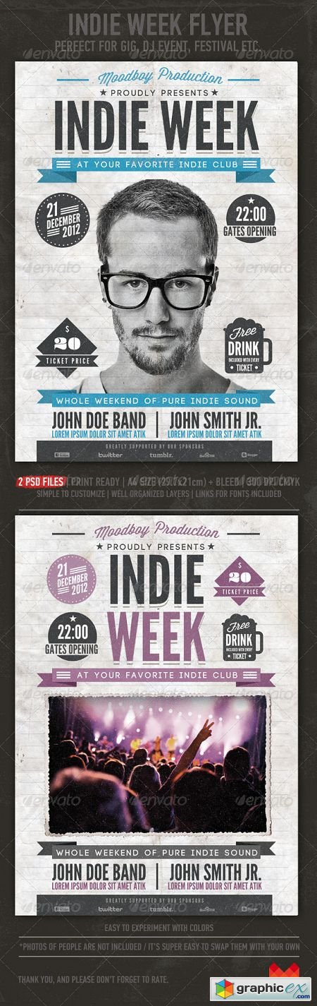 Indie Week Flyer/Poster 3552627